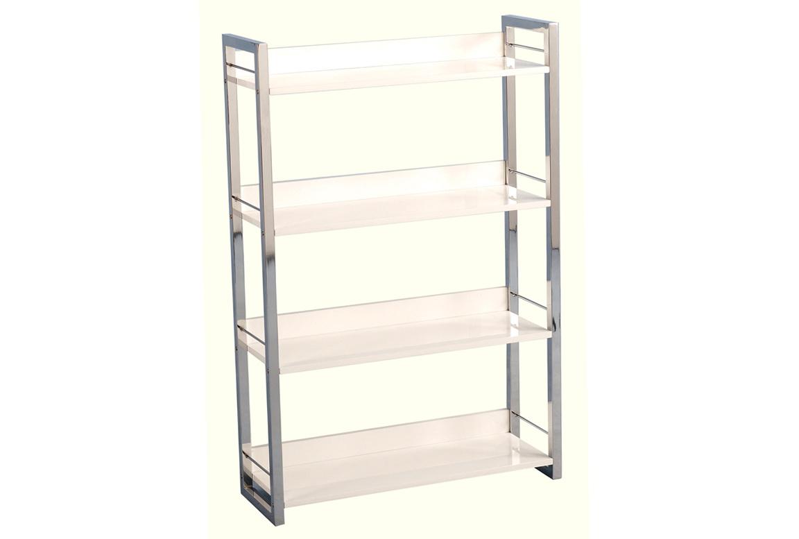 4 Shelf Bookcase White