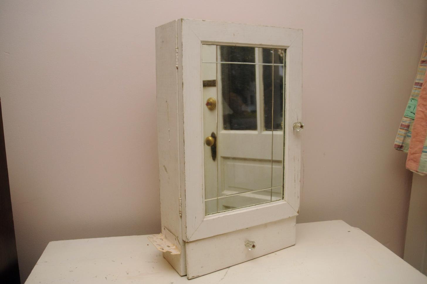 Antique White Medicine Cabinet