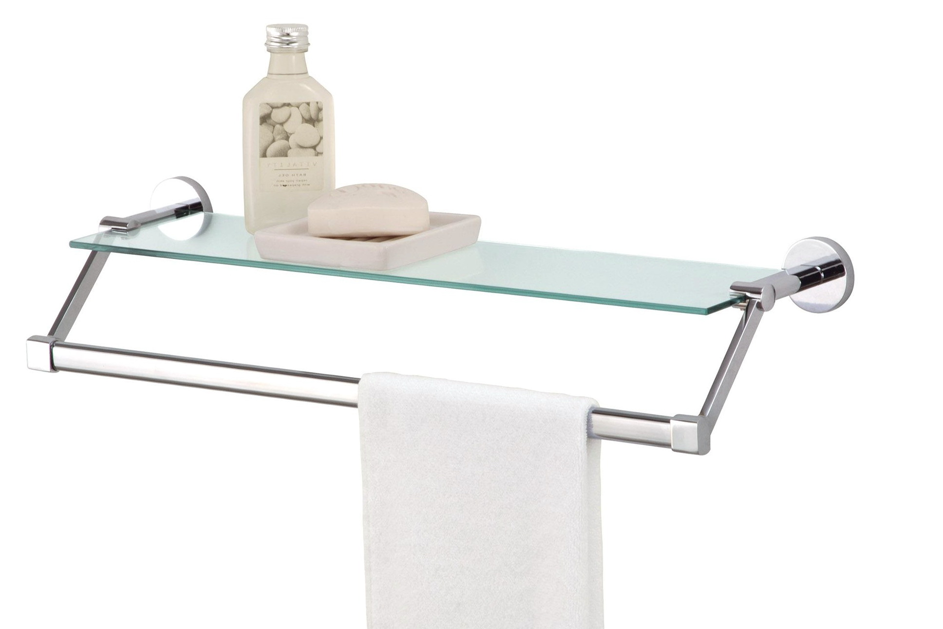 Bathroom Wall Shelves With Towel Bar