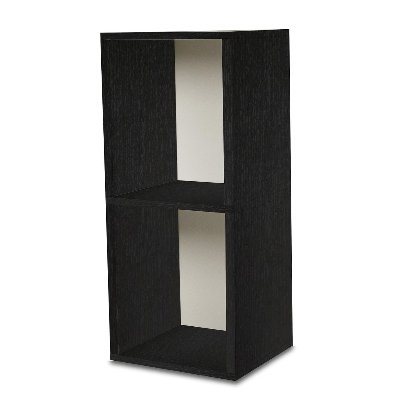 Black 2 Shelf Bookcase