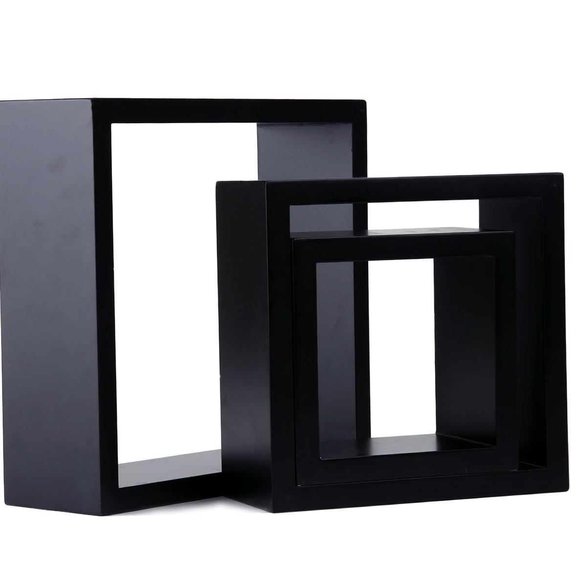Black Cube Wall Shelves