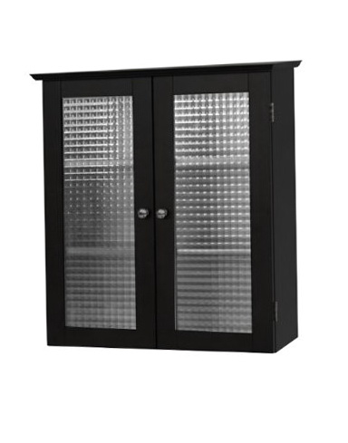Black Medicine Cabinet No Mirror