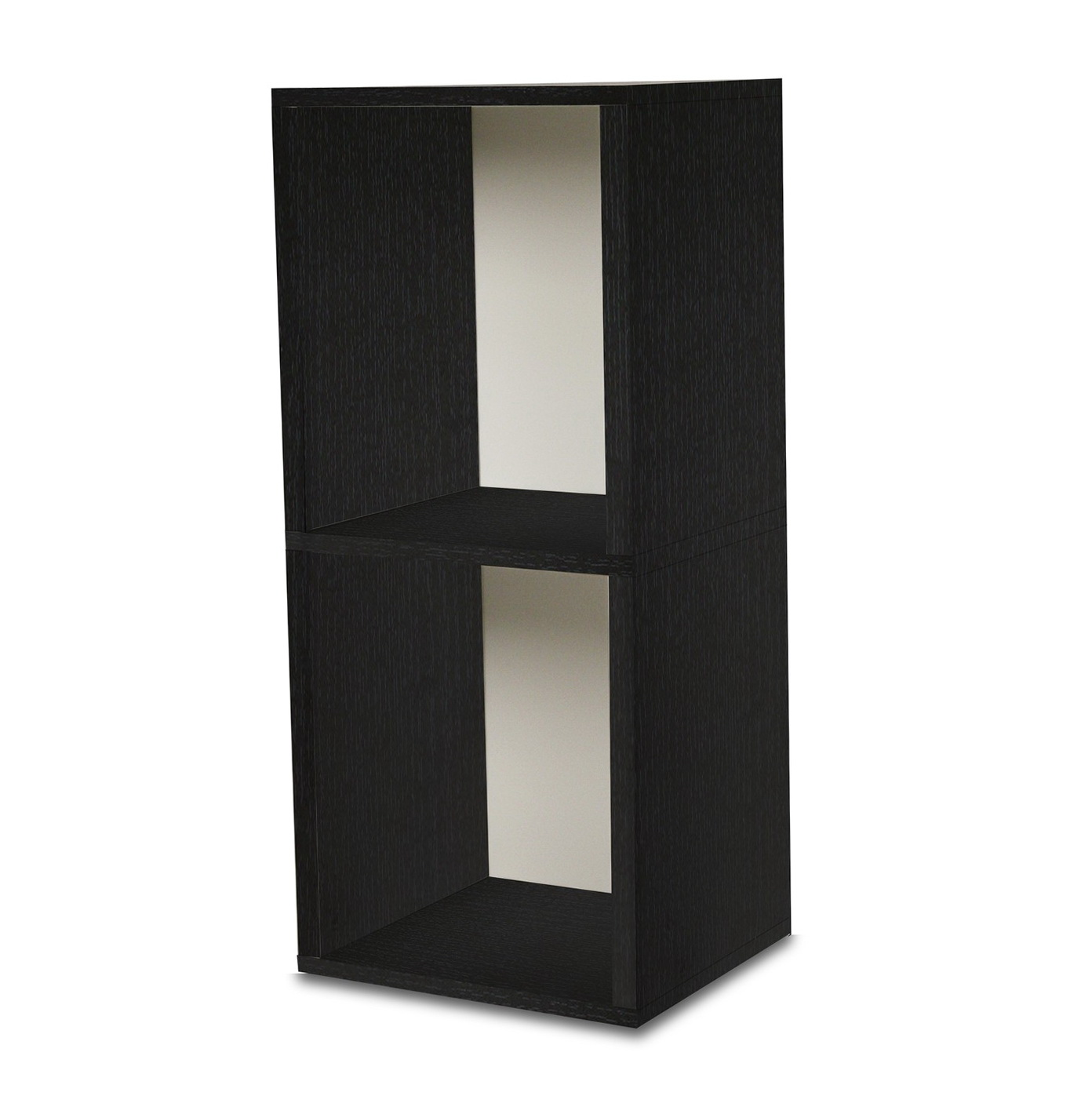 Black Two Shelf Bookcase