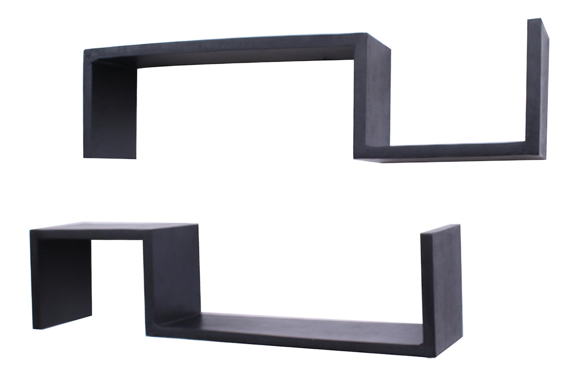 Black Wall Shelves Wood