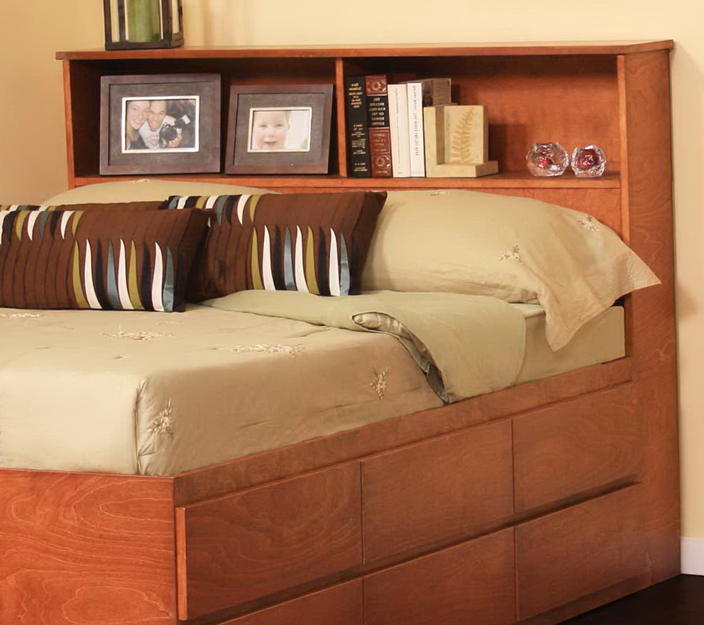 Bookcase Headboard King Bed