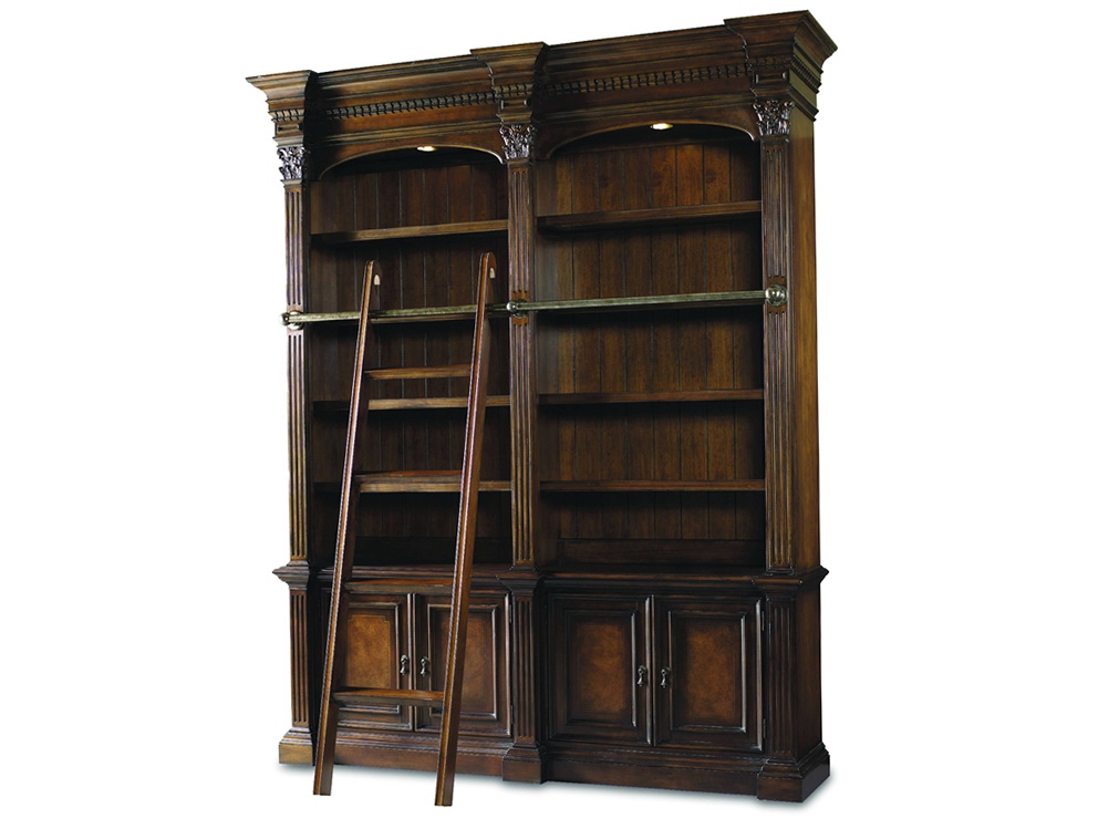 Bookcase With Ladder Rail
