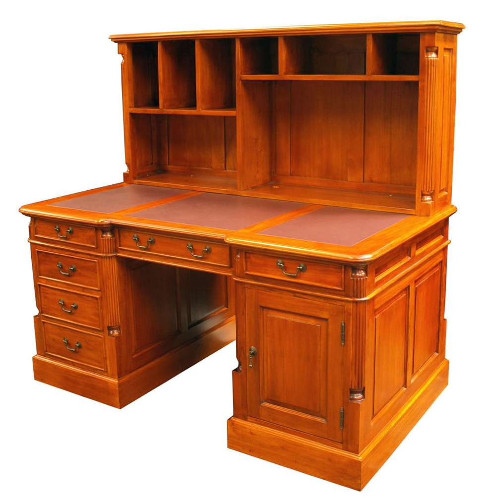 Desk With Bookcase Attached