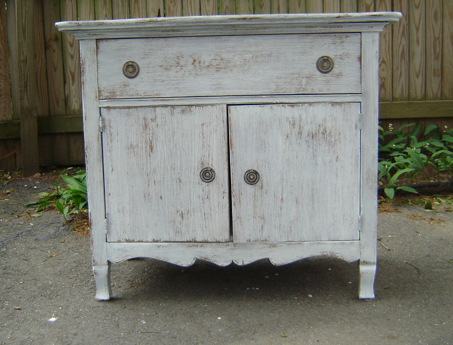 Distressed Antique White Dresser