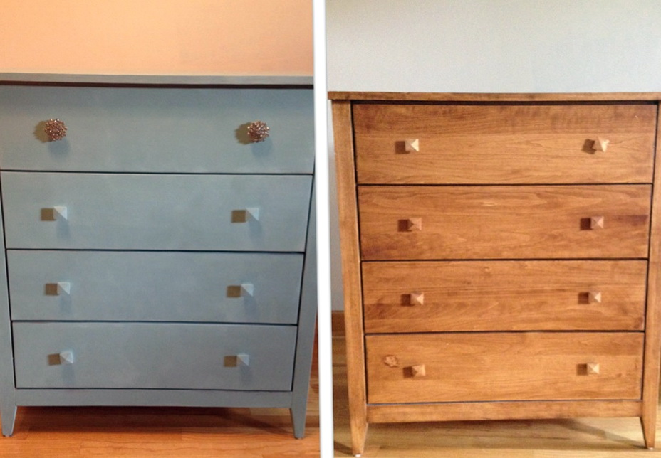 Diy Mirrored Dresser Before And After