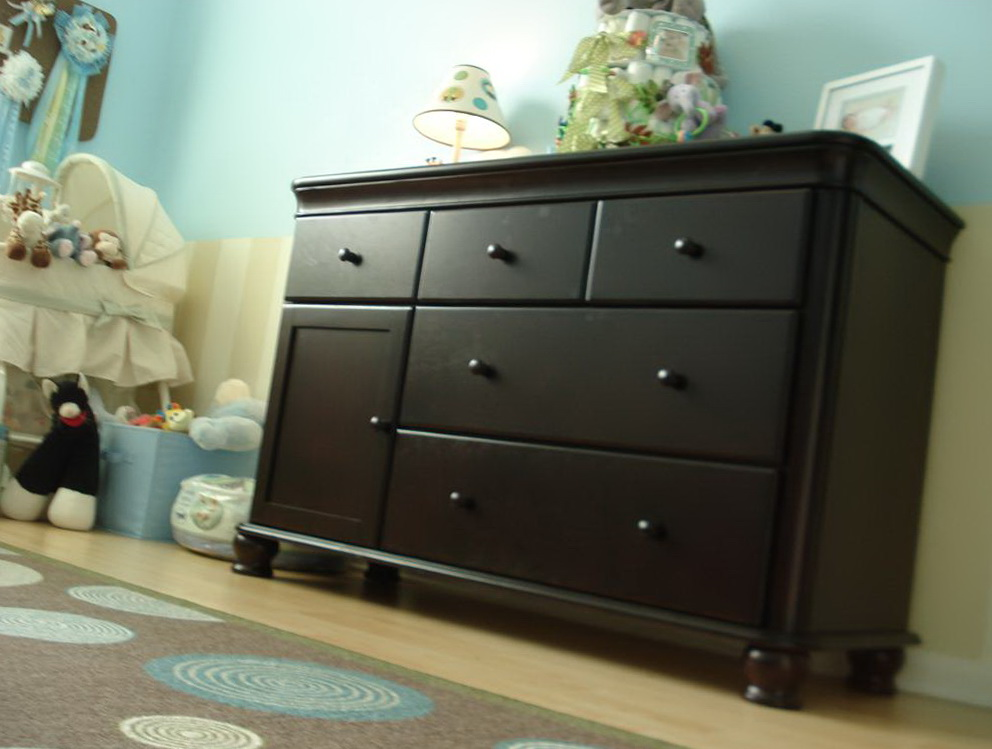 Dresser Changing Table Combo Espresso