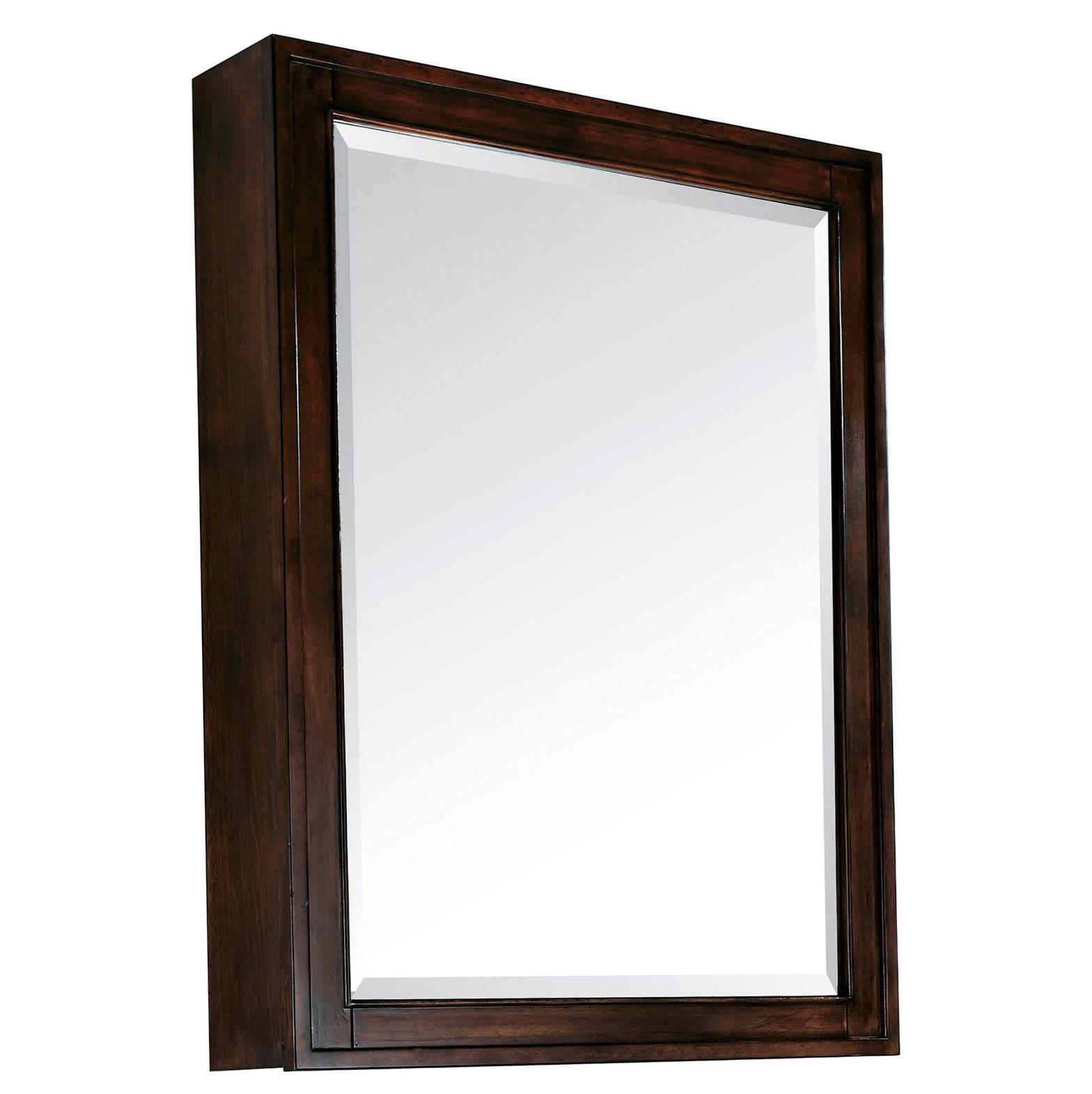 Espresso Medicine Cabinet With Mirror