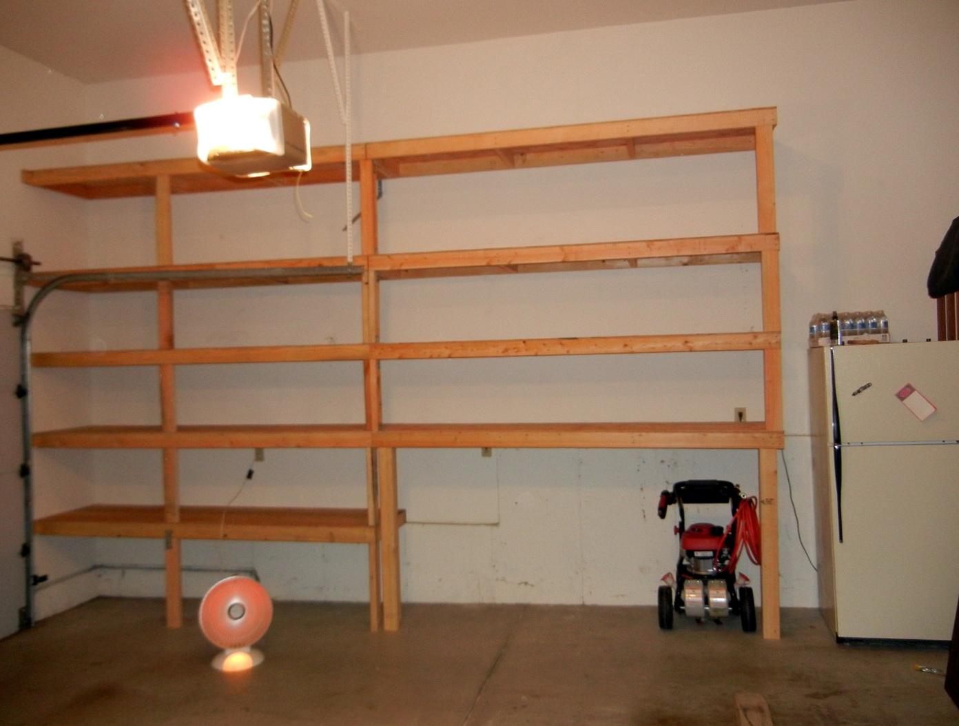 Garage Wall Shelves Plans