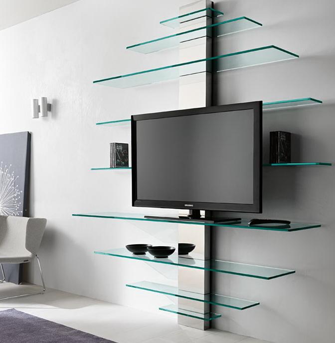 Glass Wall Shelves For Tv