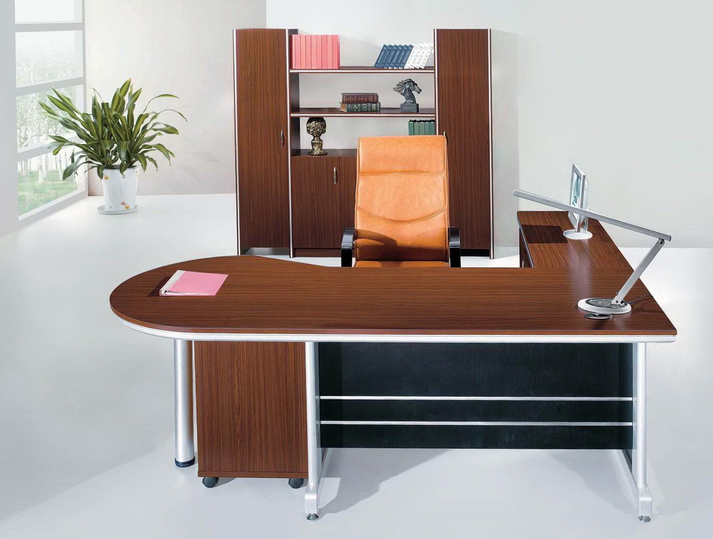 L Shaped Desk With Bookcase