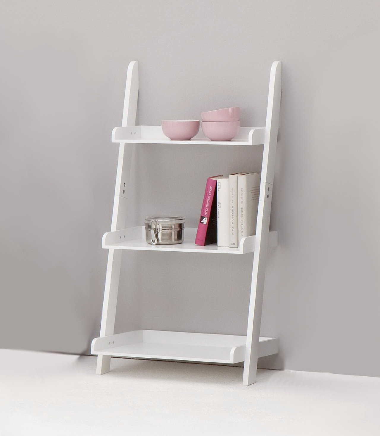 Ladder Shelf Bookcase White
