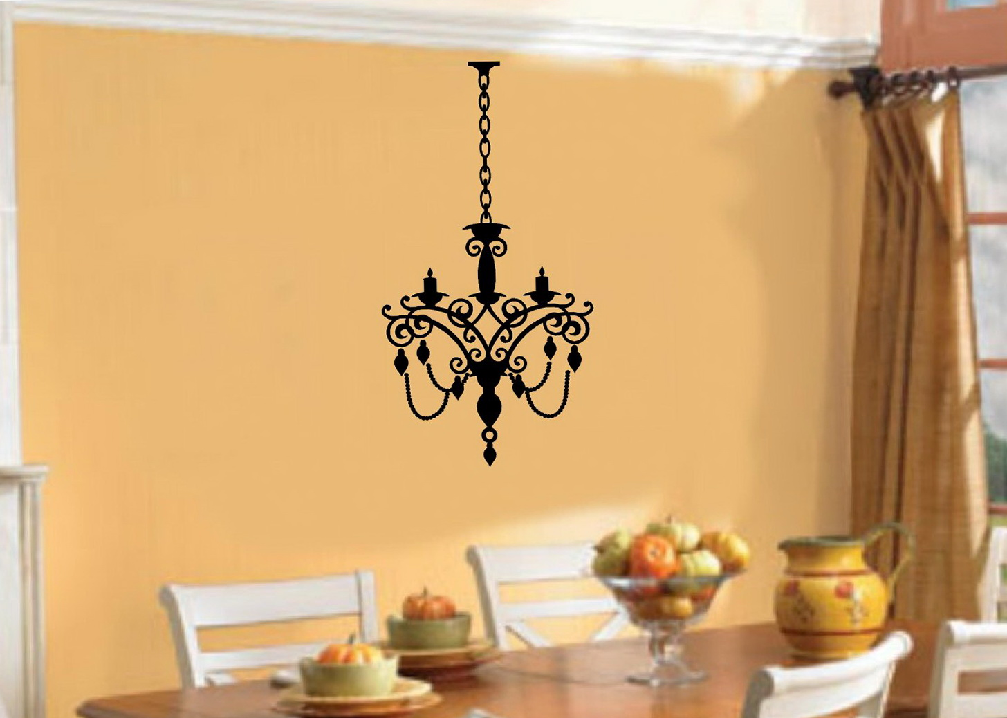 Lit Chandelier Wall Art