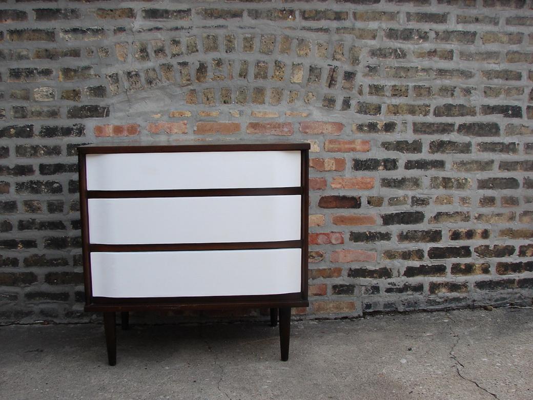 Mid Century Modern White Dresser