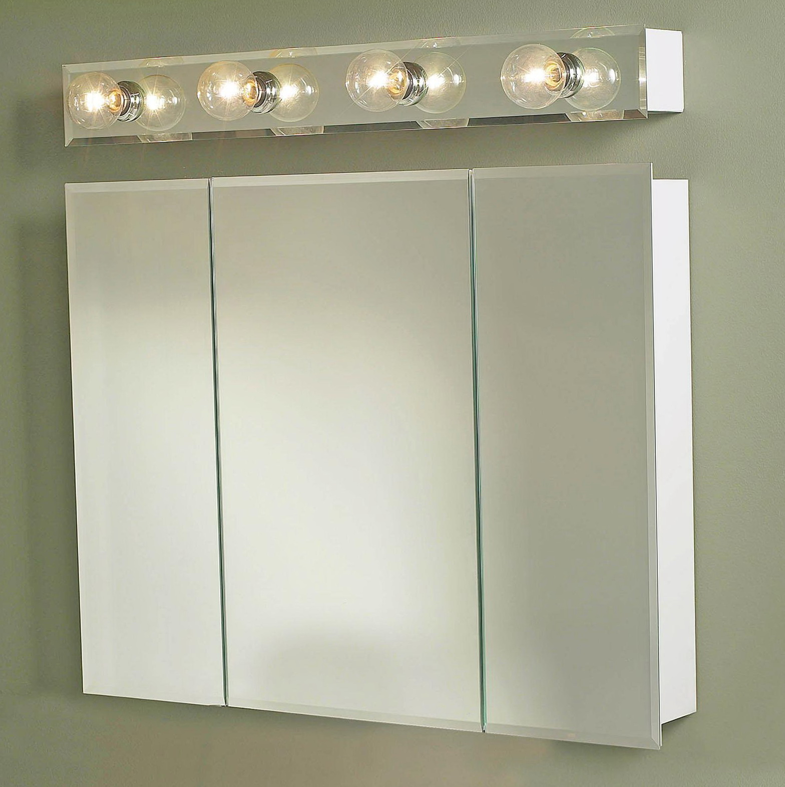 Mirrored Medicine Cabinet With Lights