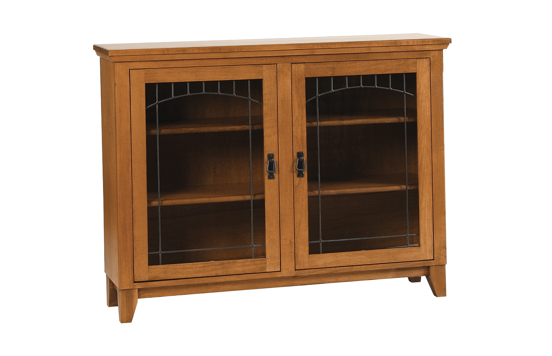 Mission Style Bookcase With Glass Doors