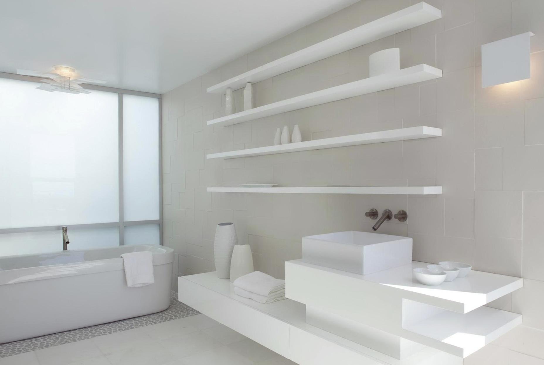 Modern Bathroom Wall Shelves