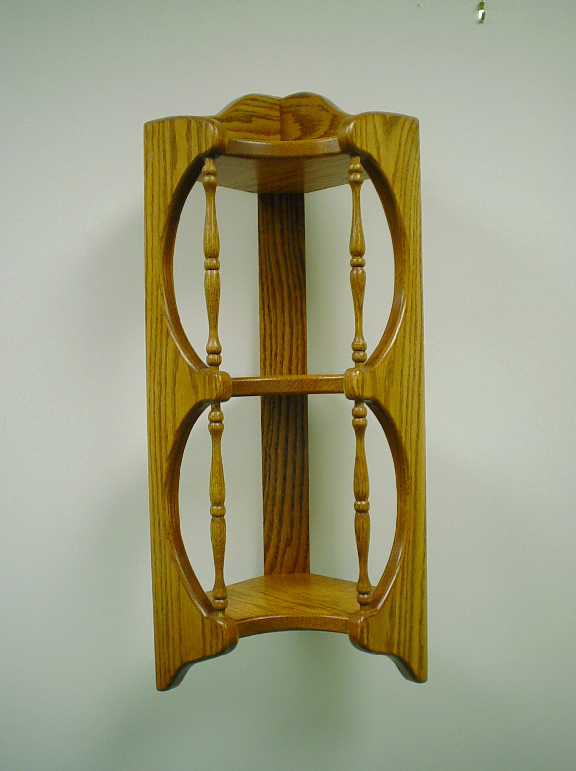 Oak Corner Shelves Wall Mount
