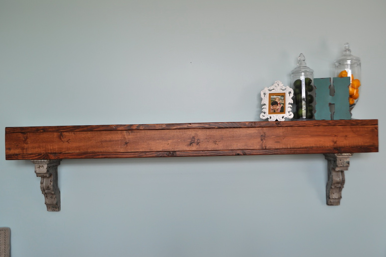 Oak Wall Shelves With Brackets