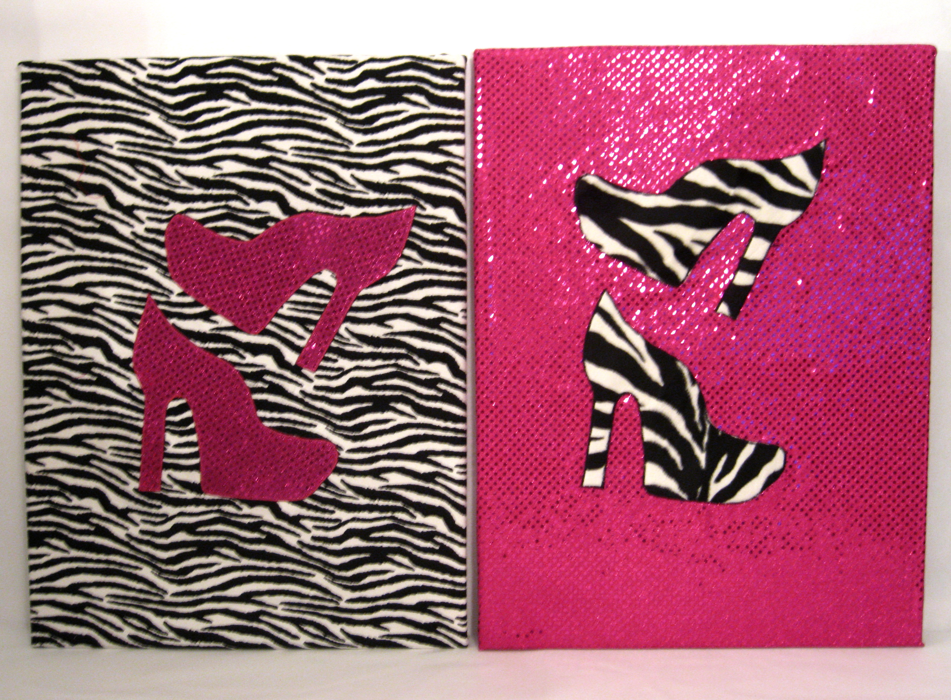 Pink And Black Wall Art