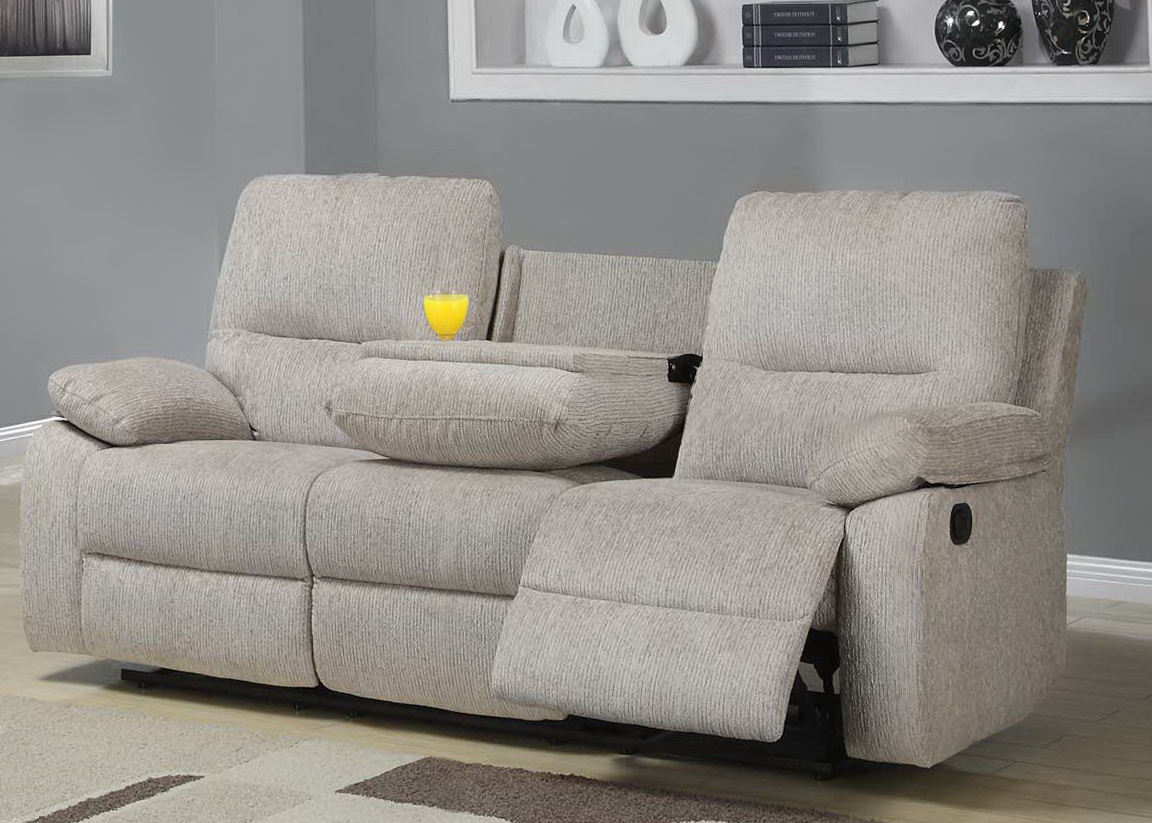 Reclining Loveseat With Console Cup Holders