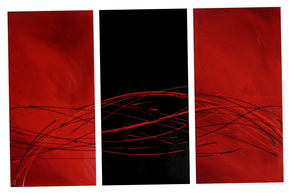 Red And Black Wall Art