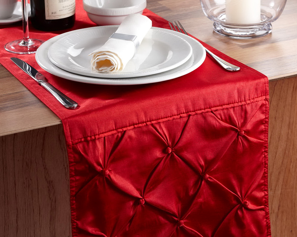 Red Linen Table Runner