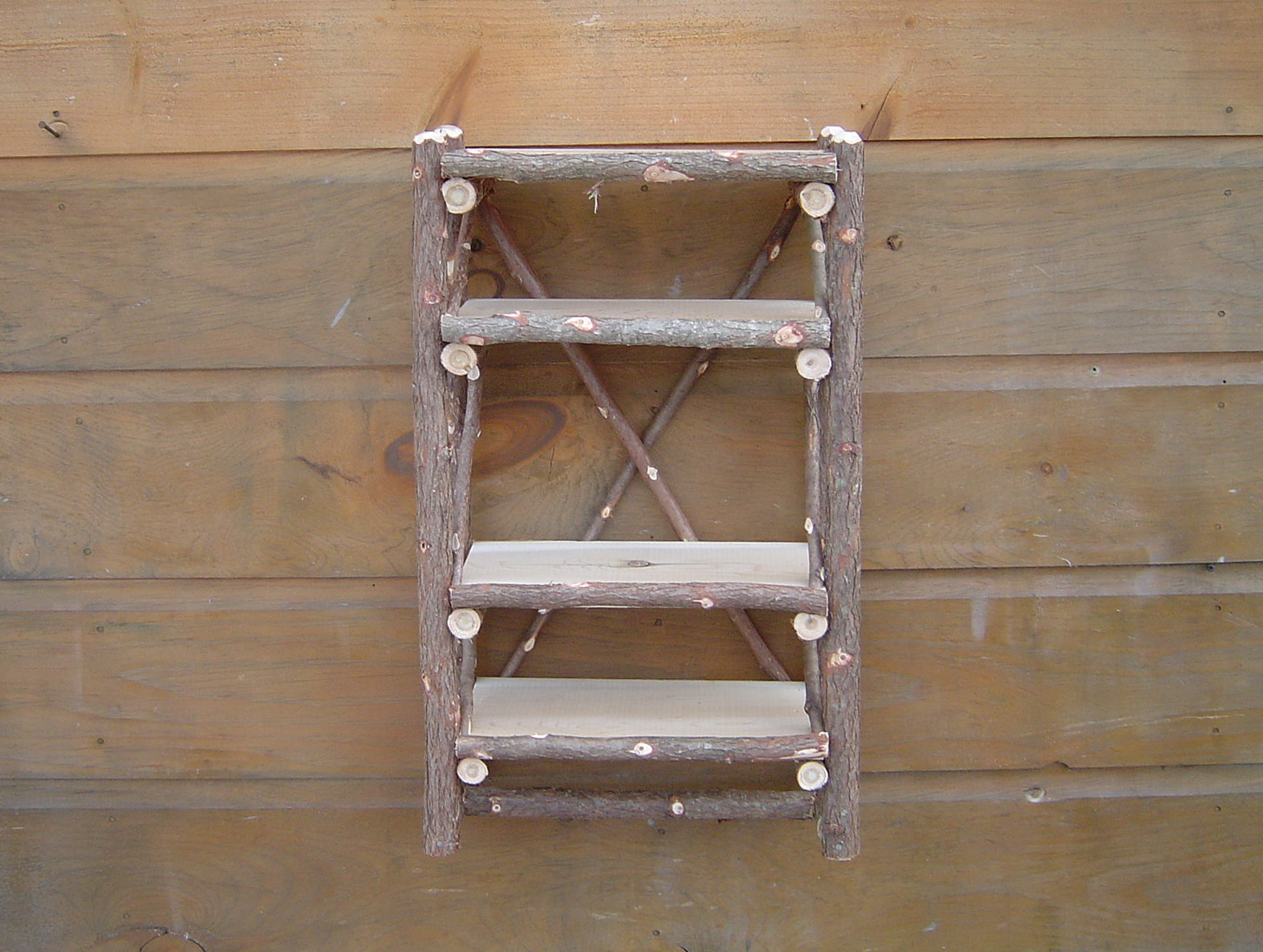 Rustic Bathroom Wall Shelves