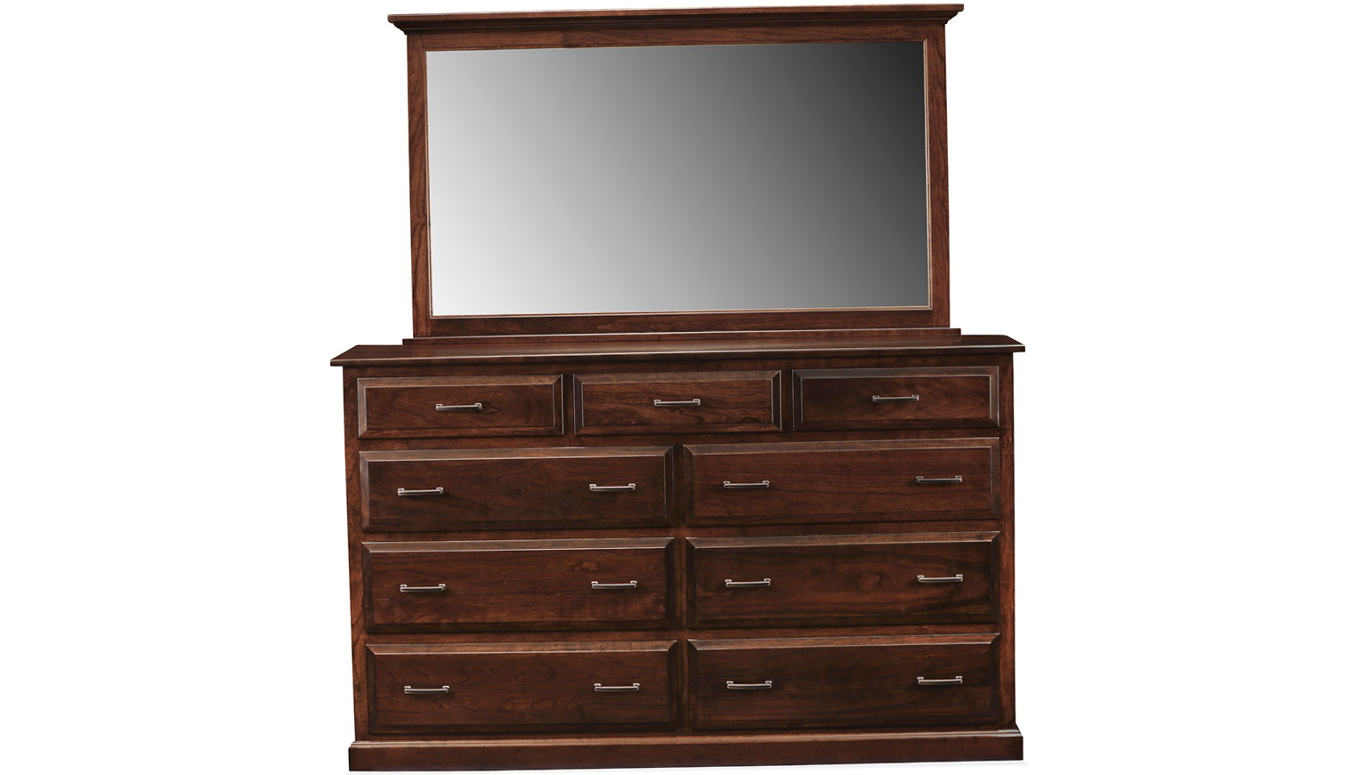 Solid Wood Dresser With Mirror