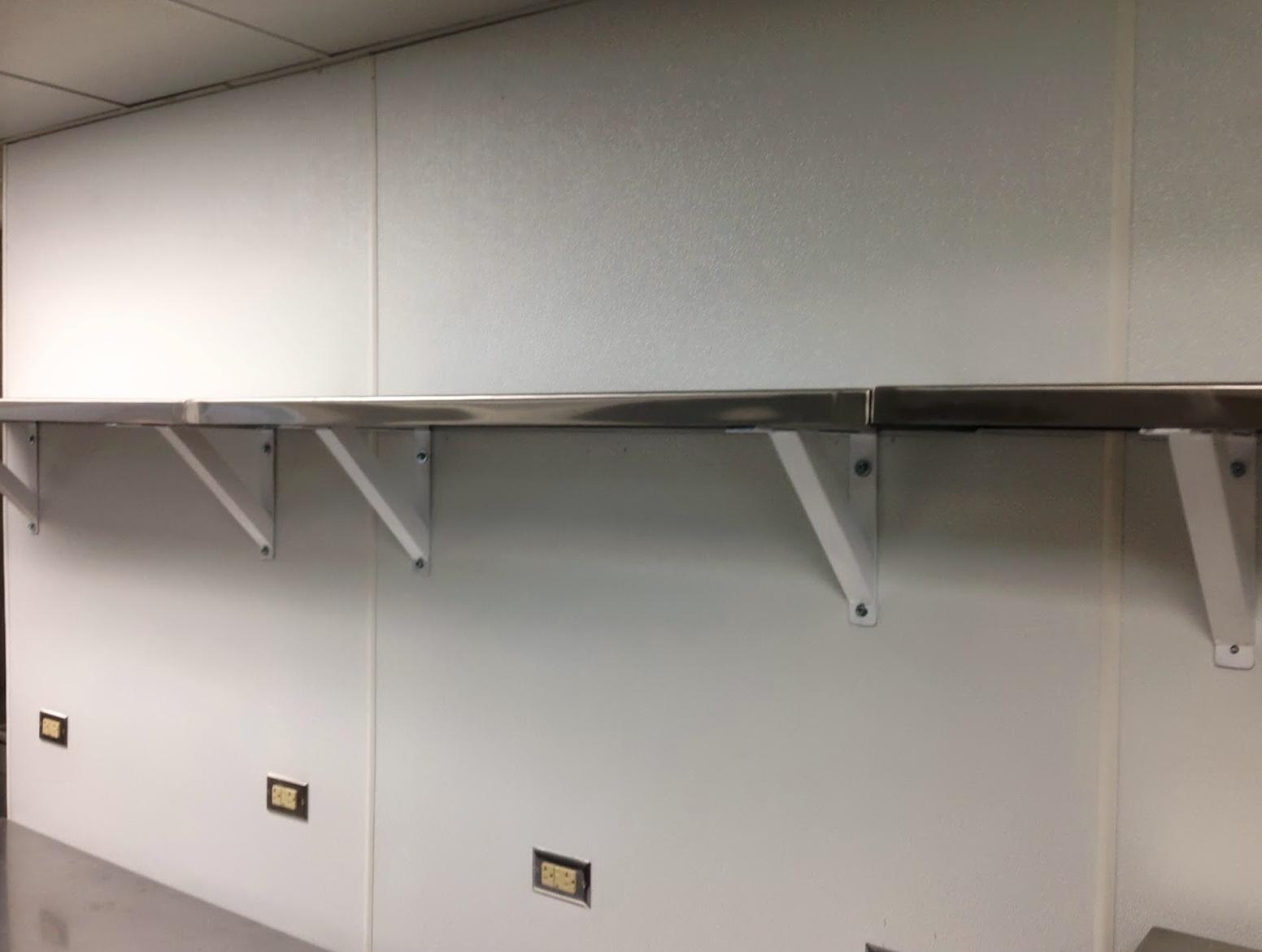 Stainless Steel Wall Shelves Restaurant