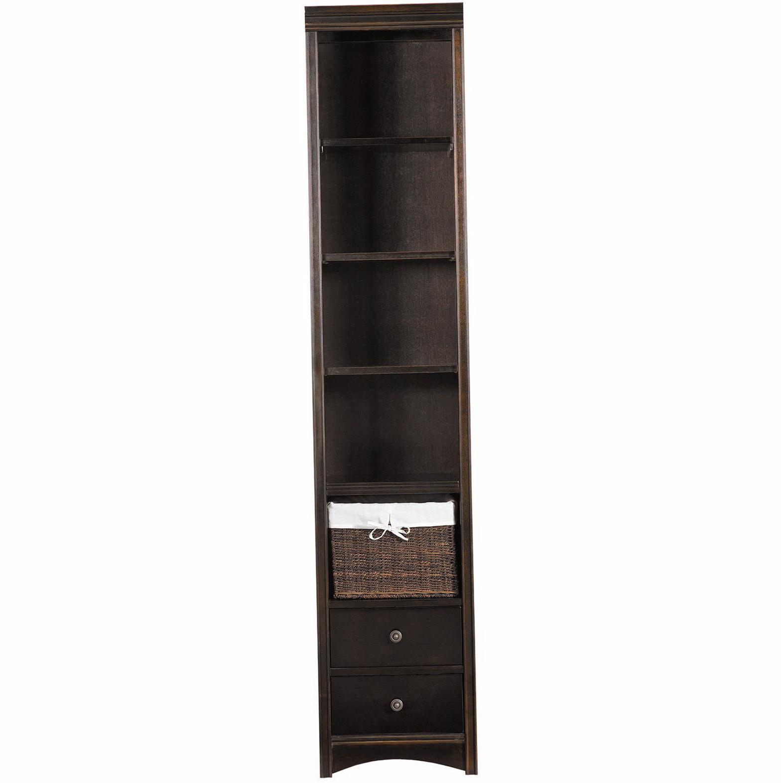 Tall Narrow Bookcase Espresso