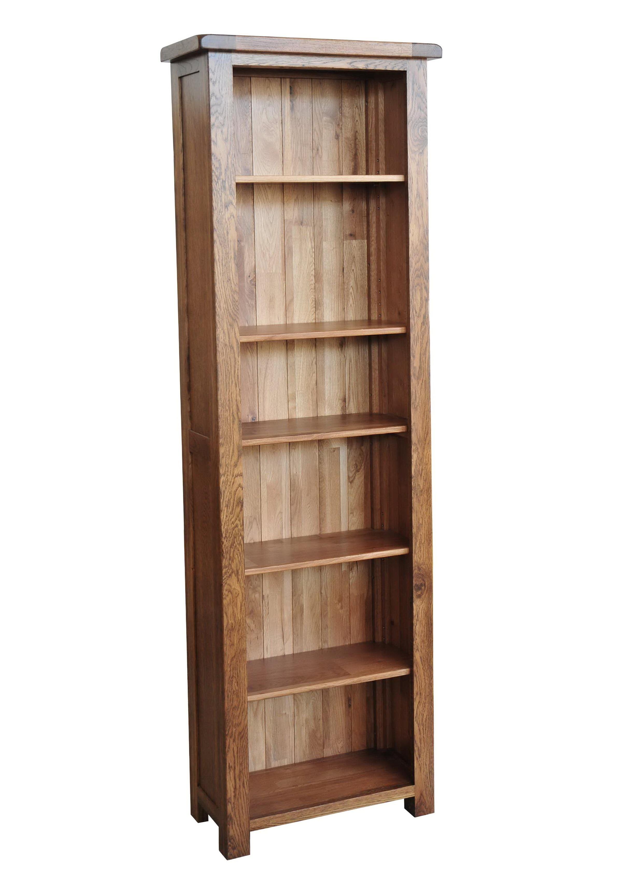 Tall Narrow Bookcase Oak