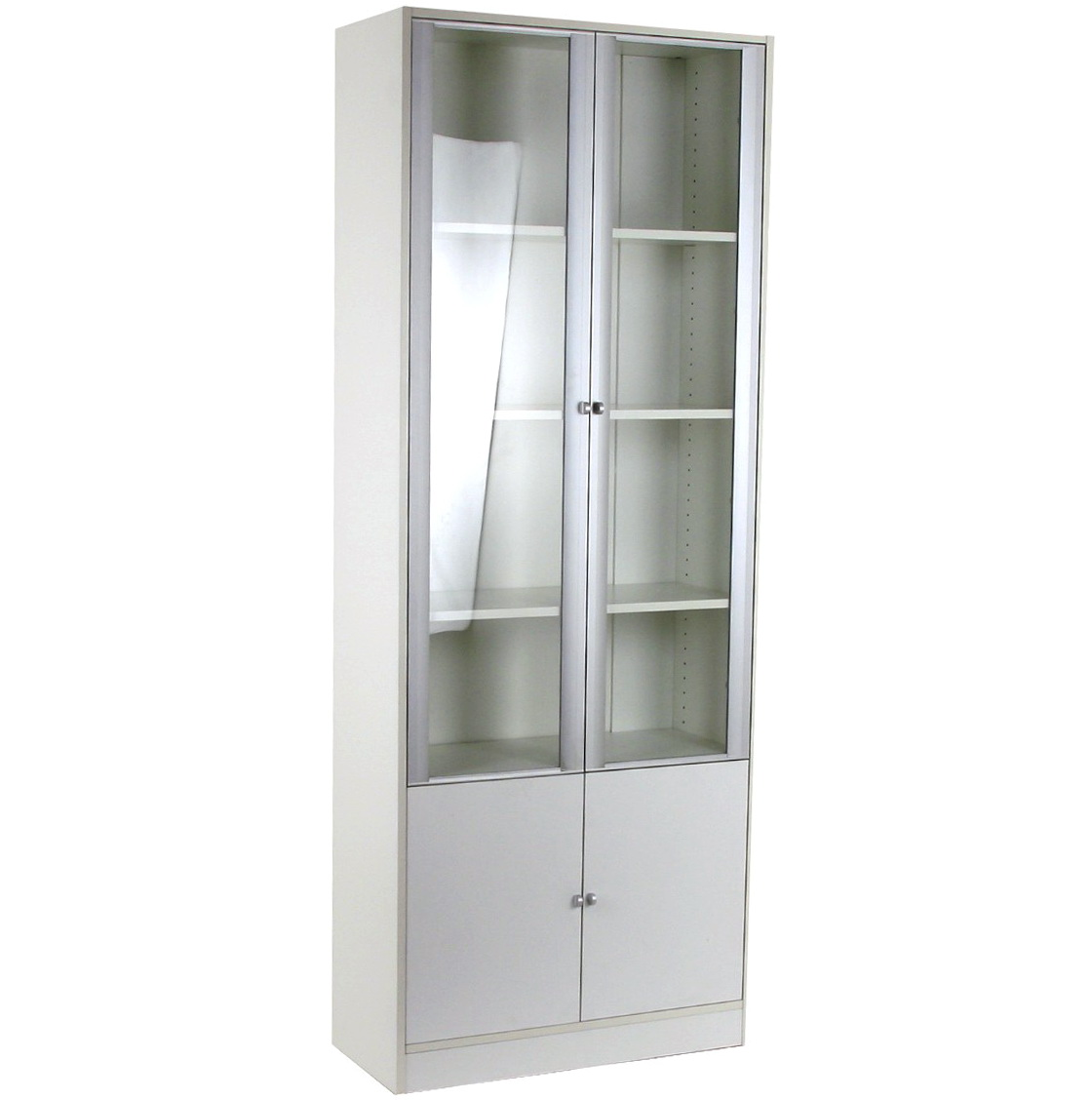 Tall White Bookcase With Doors
