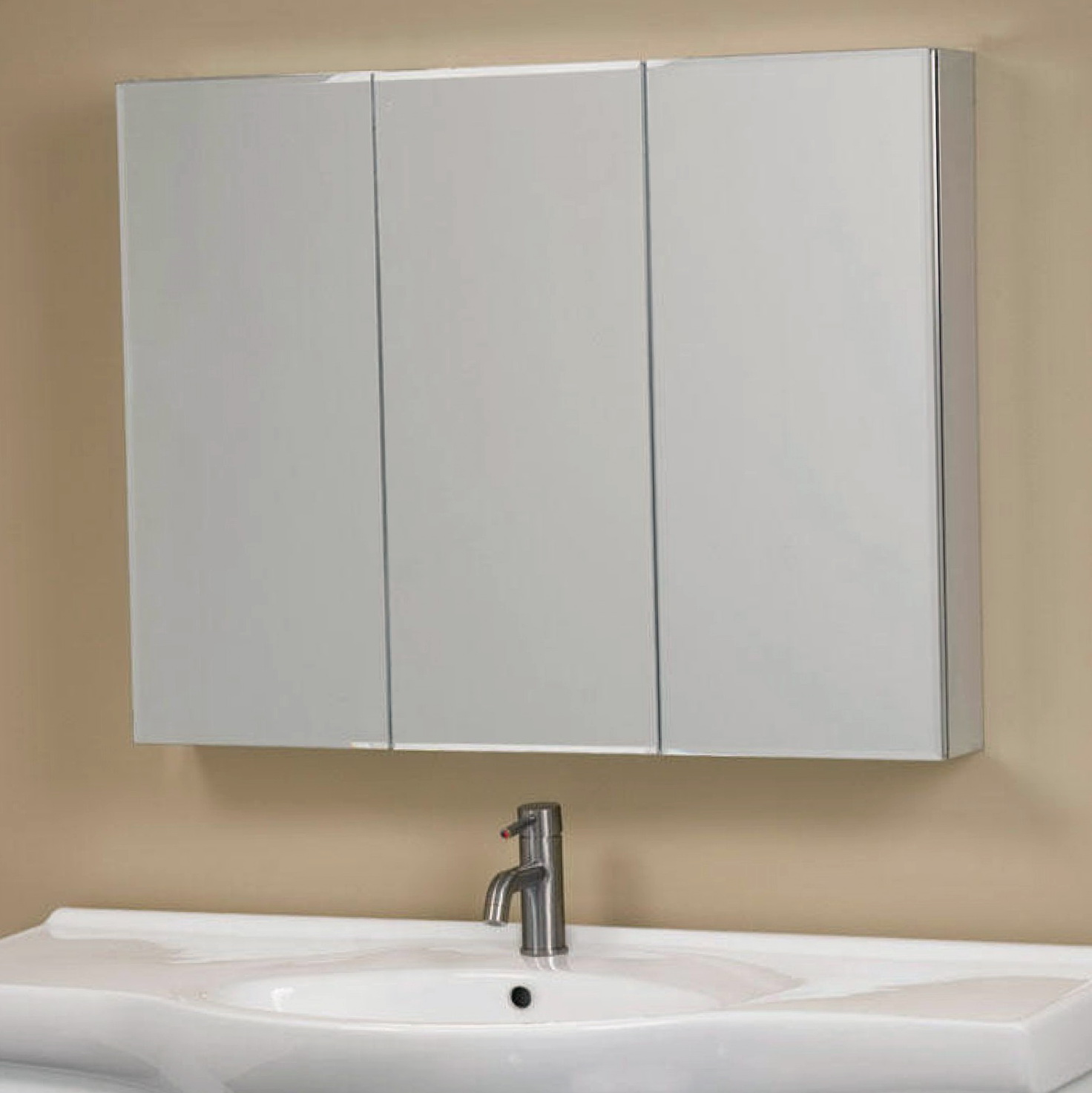 Tri View Medicine Cabinet With Lights