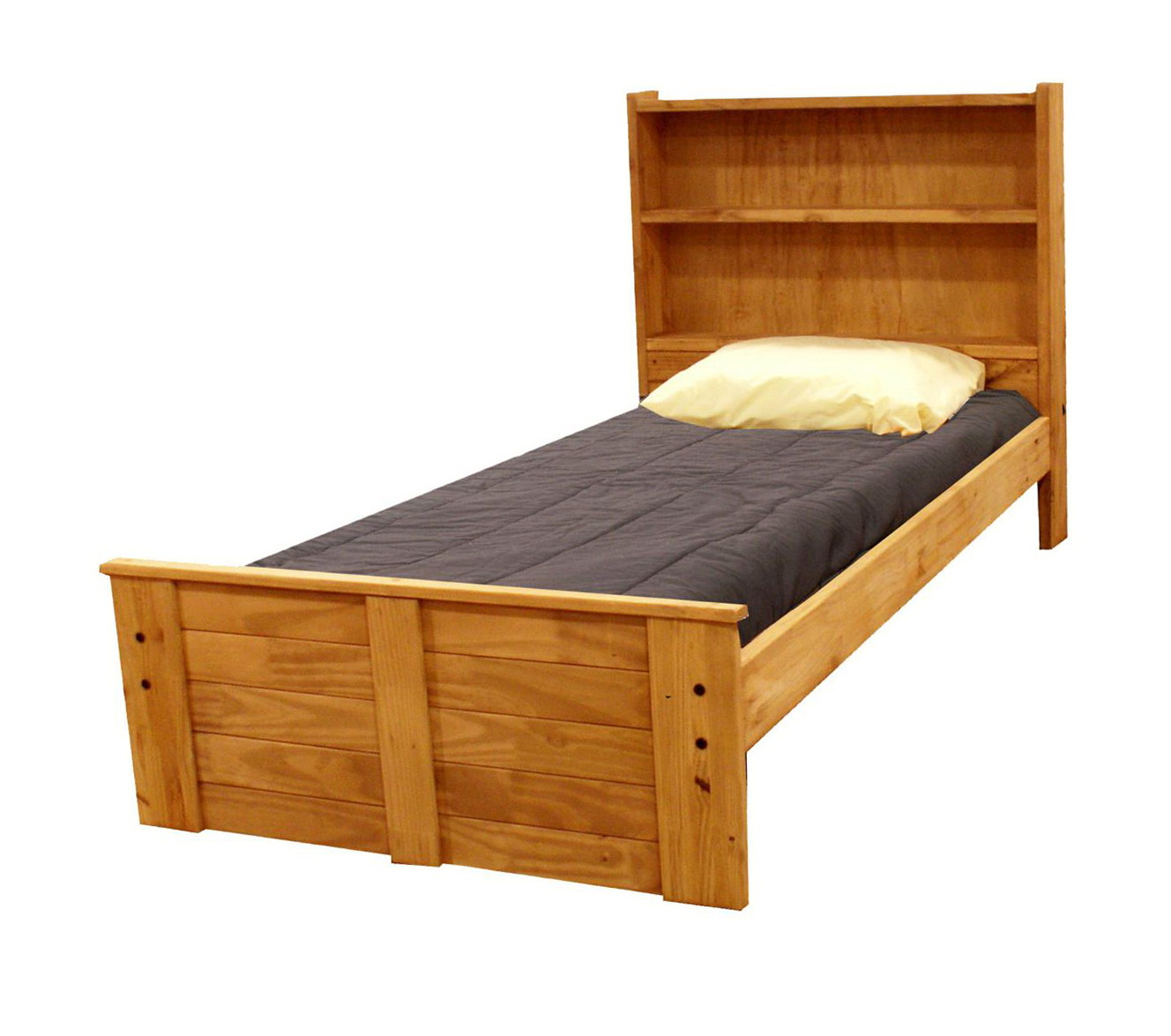 Twin Bookcase Headboard Storage Bed