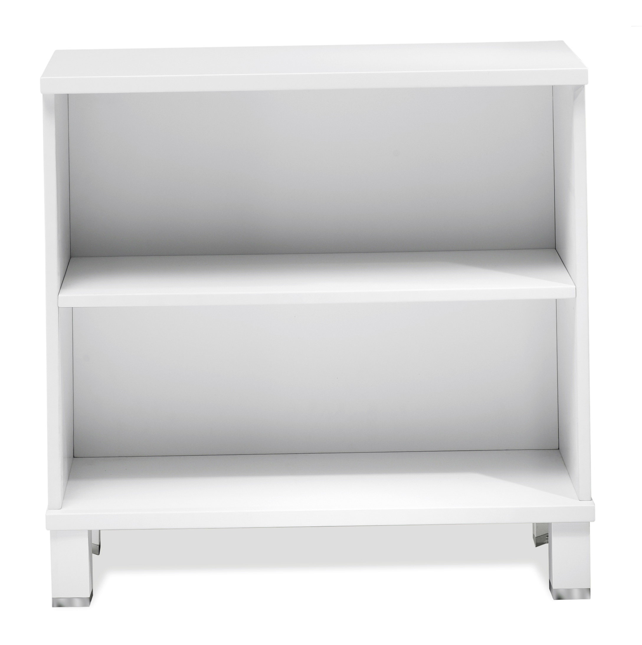 Two Shelf Bookcase White
