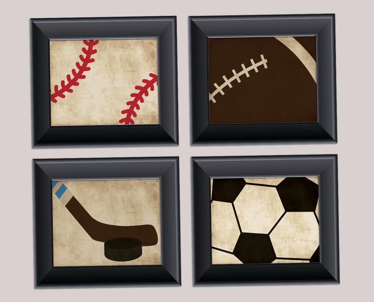 Vintage Sports Wall Art