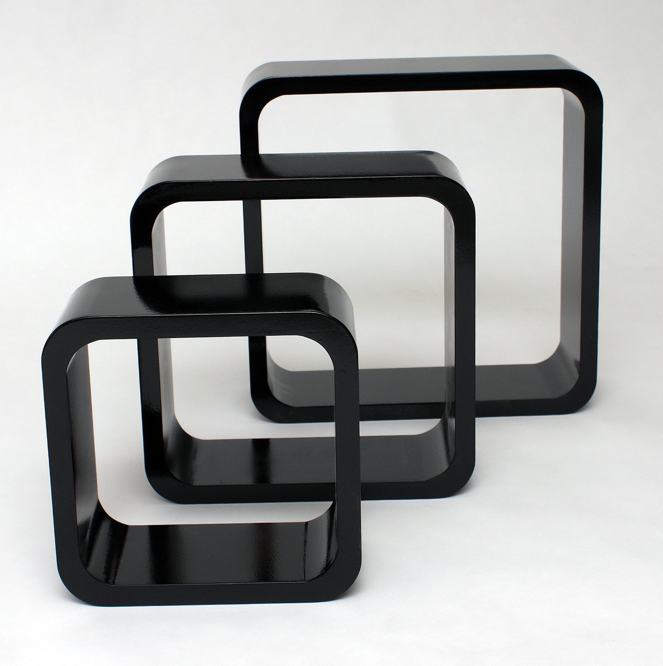 Wall Cube Shelves Black