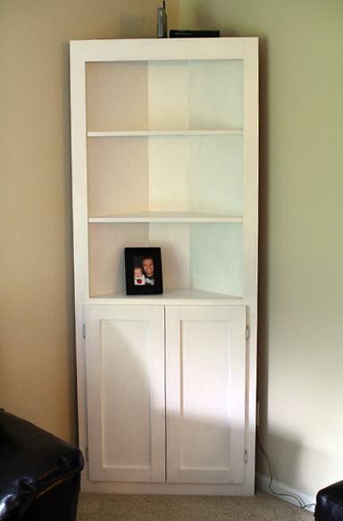 White Corner Bookcase Canada