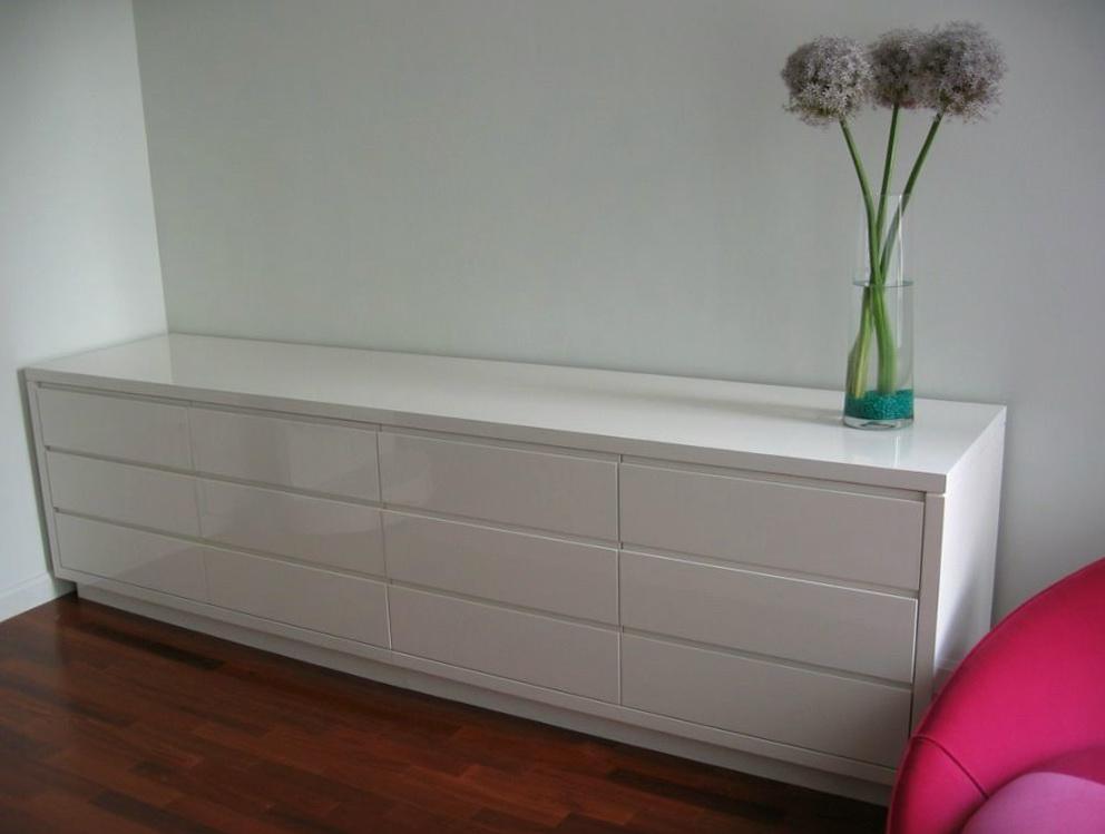White Lacquer Dresser Modern