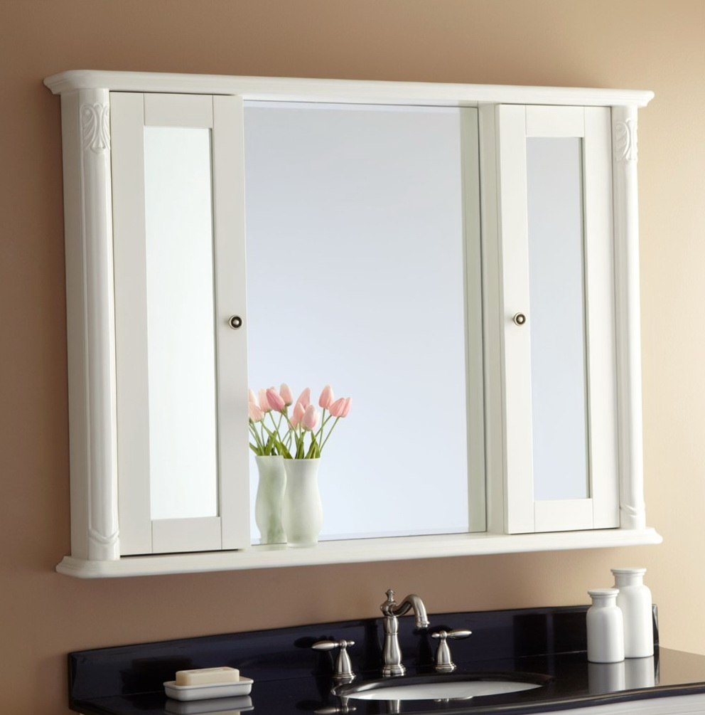White Medicine Cabinet With Mirror