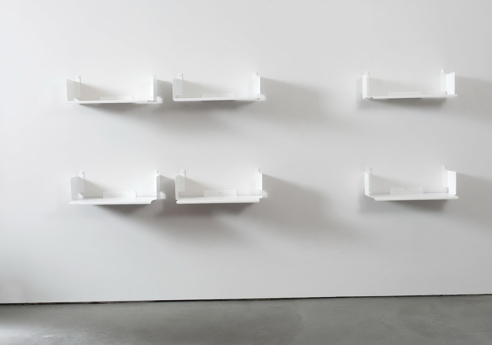 White Metal Wall Shelves