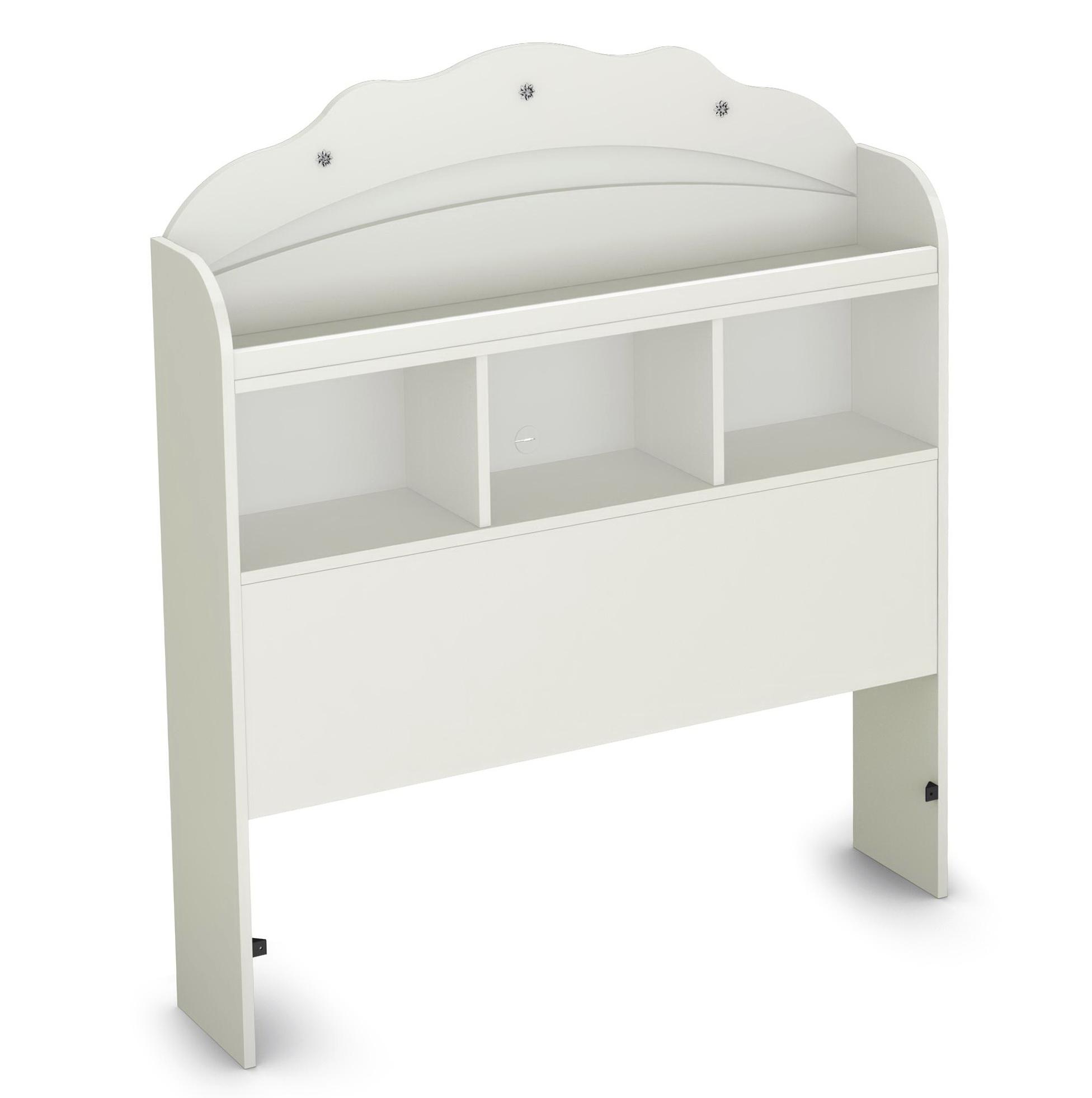 White Twin Bookcase Headboard