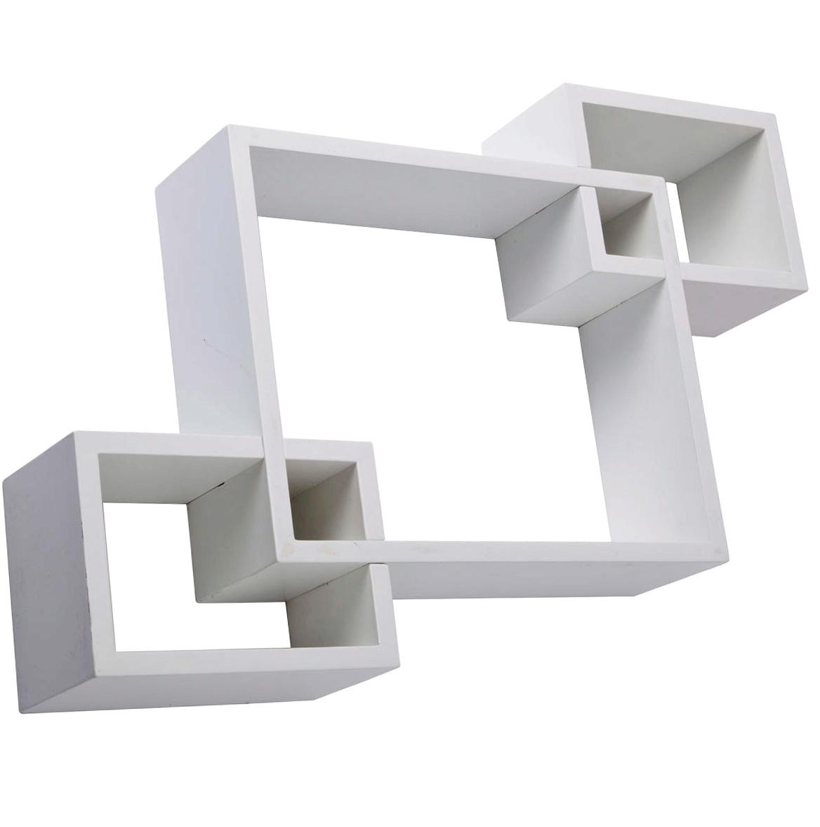 White Wall Box Shelves