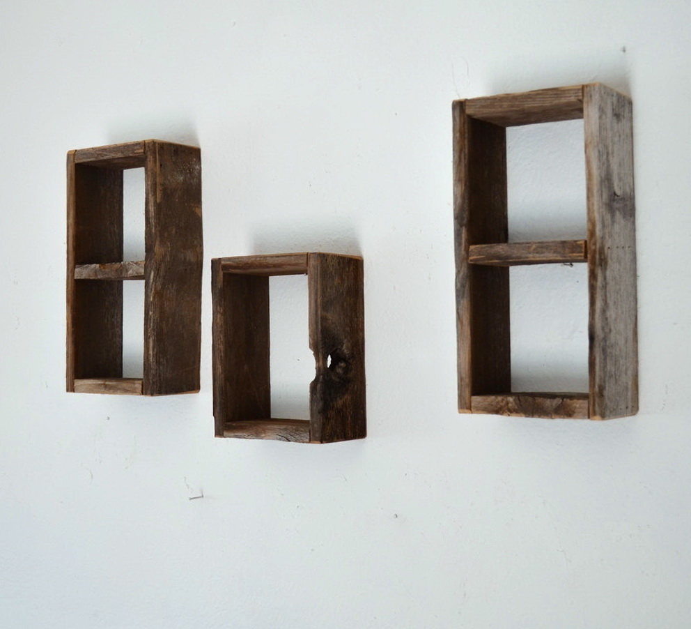 Wood Box Wall Shelves