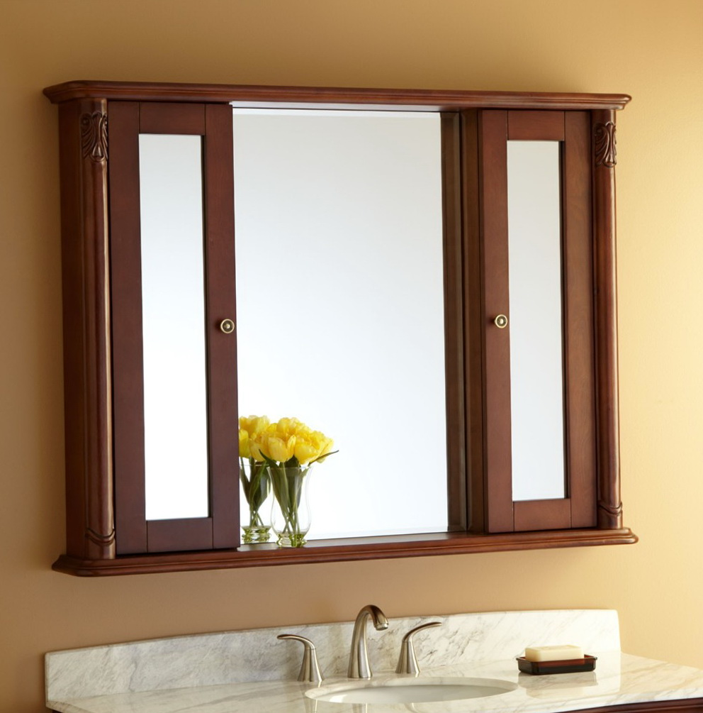 Wood Medicine Cabinets With Mirror