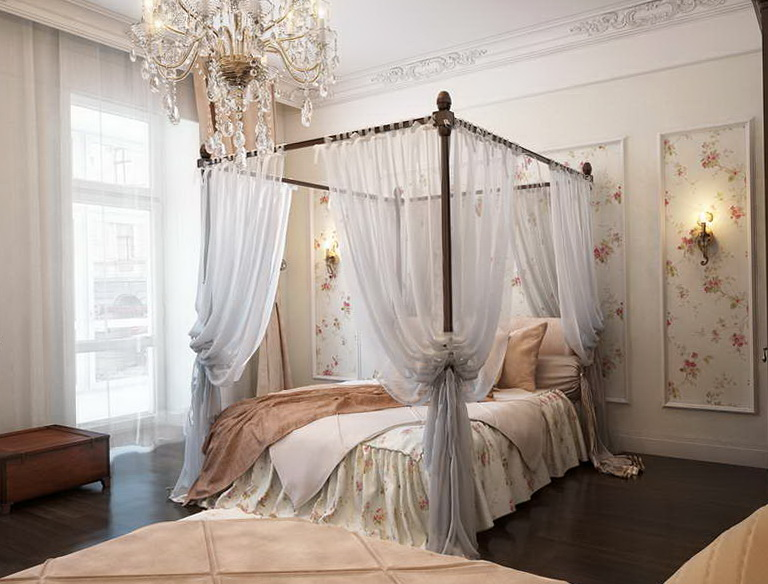 Four Post Bed With Curtains